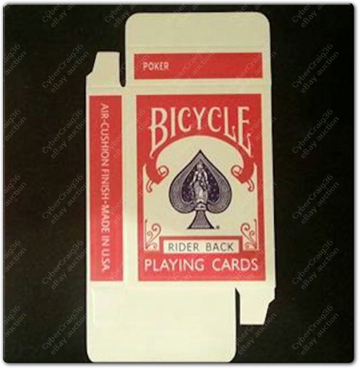 EMPTY BICYCLE PLAYING CARD BOX OLD RIDER 808 RED BLUE DESIGN CASE ...
