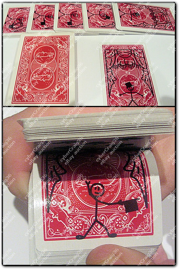 Cartone animato cardtoon pacchetto mazzo carte da gioco